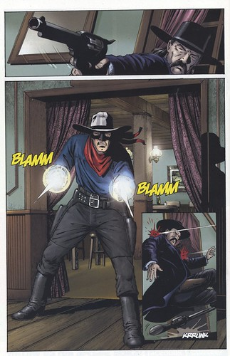 BLAMM BLAMM - comic book art from The lone Ranger, Vol. 2 #2.