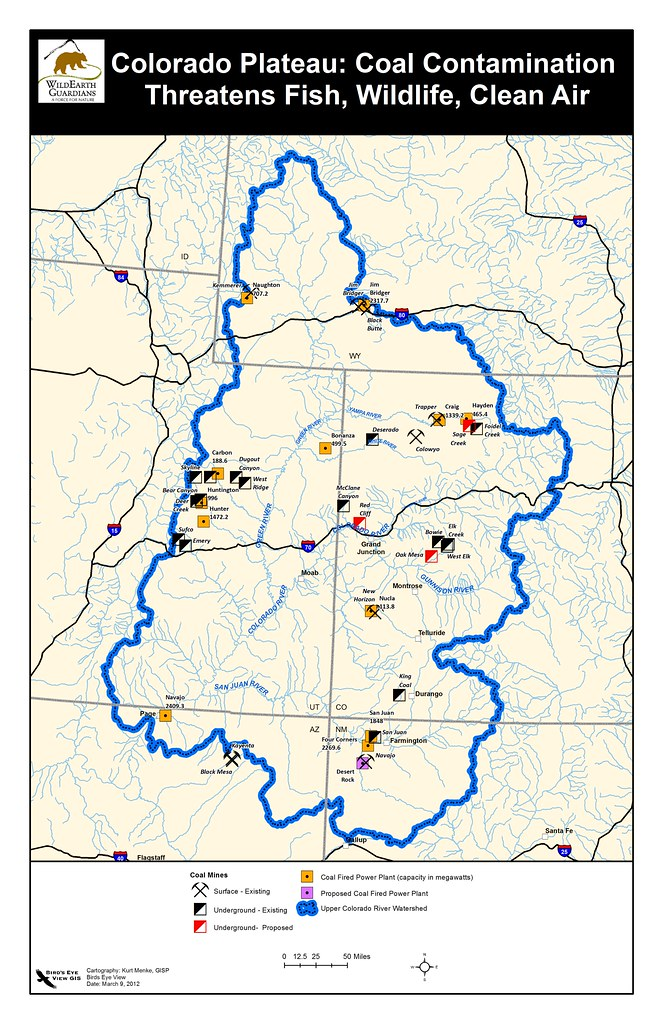 Colorado Plateau Coal Map-March 2012