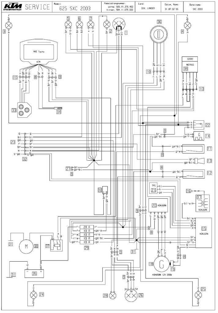 Surprising Ktm 625 Sxc Wiring Diagram And Electrical Schematics Electrical Wiring Cloud Hisonuggs Outletorg