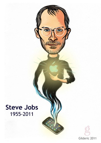 Steve Jobs (1955-2011) - Illustration : Gilderic