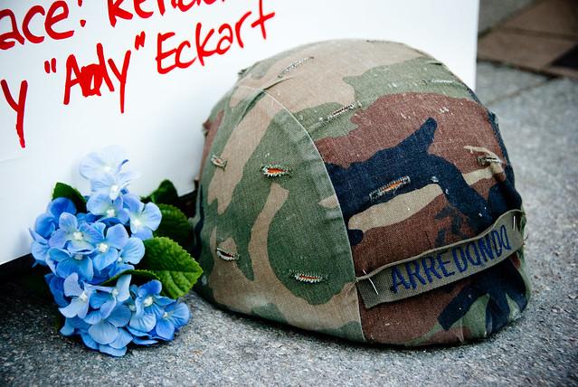 #OccupyBoston 2011 Oct 16 Alex Arredondo's Helmet
