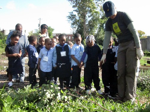 October 4 work day at the Harlem Park School Community Garden