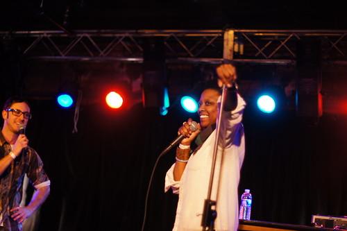 Shirlette Ammons, Missy Thangs & Juan Huevos, Soundcheck, Casbah, Durham NC, 11/11/11