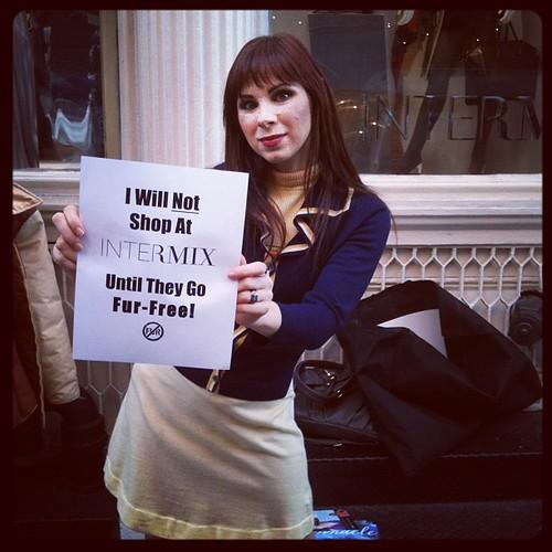 #intermix Anti Fur Protest, @sweetsereniteee