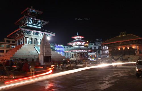 Durbar Square at night, Kathmandu, Nepal