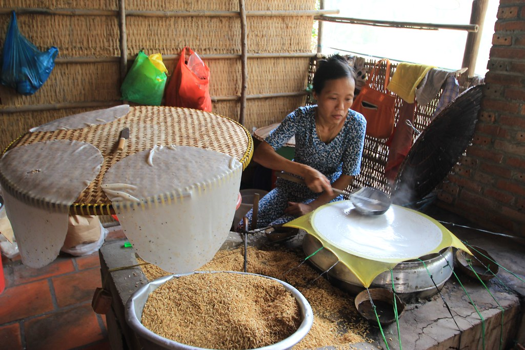 Rice Crackers, Floating Markets - Mekong Delta, Vietnam