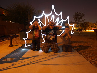 Light Painting with the Kids by Ms. Phoenix