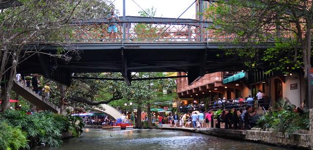 Looking Down the Riverwalk