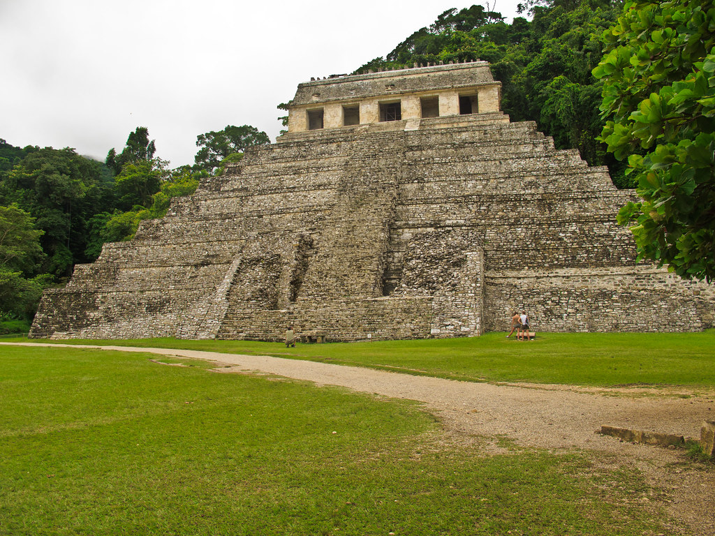 Temple of the Inscriptions, Palenque. Pacal's tomb was under this.