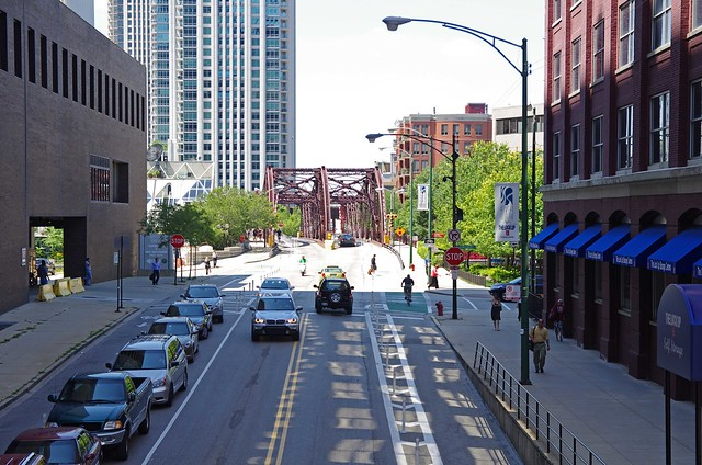 Kinzie from the Orleans overpass - 2011