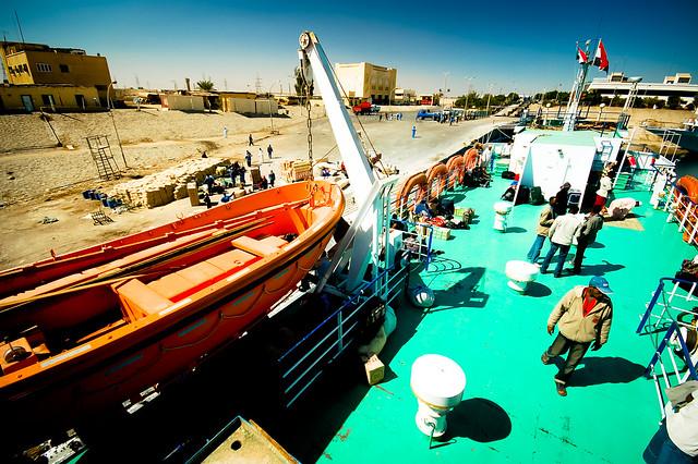 Loading up the Lake Nasser ferry in Aswan