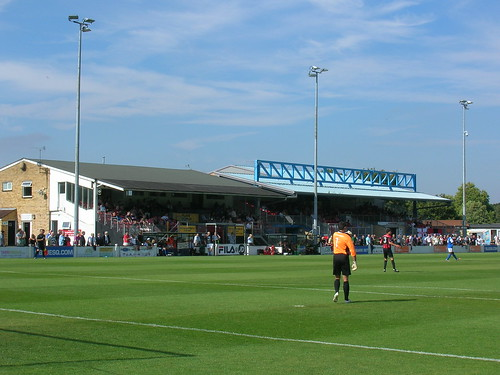 Main Stand, Glassworld Stadium, Histon FC, Cambridgeshire