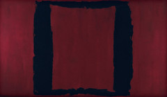 """Black on Maroon, Mural, Section 3 (1959), from """"The Seagram Murals,"""" by Mark Rothko"""