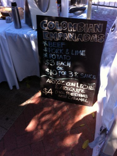 Colombian Empanadas on offer at the Subiaco Farmers Market