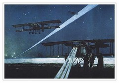 French Bombers Return from a Night-time Raid, by François Flameng