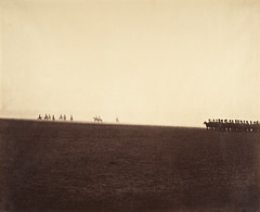 Cavalry Maneuvers, Camp de Châlons, 1857, by Gustave Le Gray
