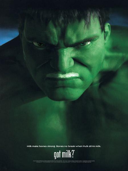 Hulk milk ad