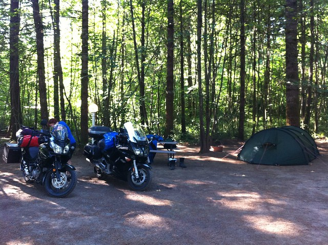 Campsite at Cougar Campground