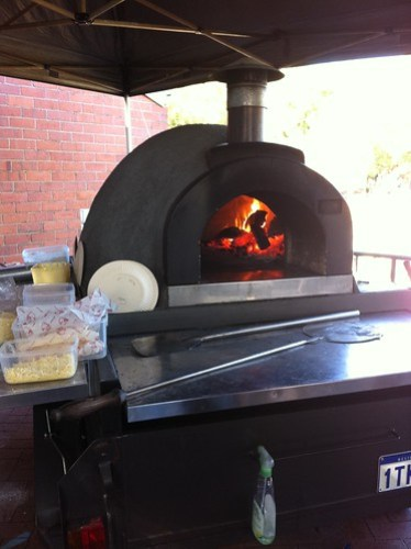 Calzones in the making at the Subiaco Farmers Markets