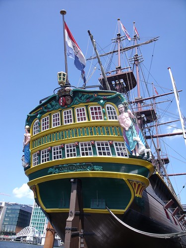 2010.07.14 Amsterdam 04 Blue Boat City Canal Cruise 118 Replica van de Amsterdam