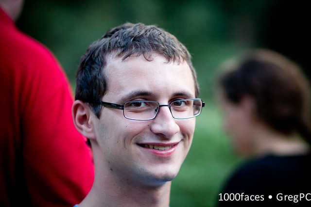 Face - smiling man with glasses