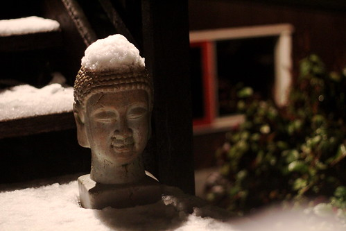 Snow on the Buddha