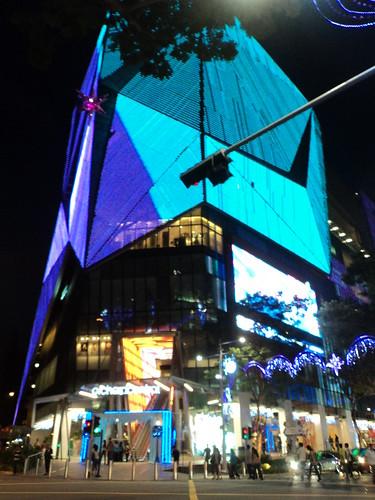 Mirador gratis, situado en Orchard Central, en Singapur