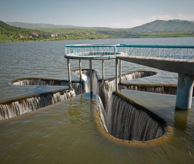 Picture Of The Day Star Shaped Spillway In Armenia