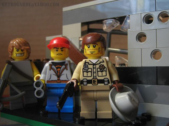 Glenn, Rick, and Daryl LEGO