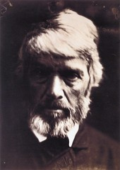 """Thomas Carlyle like a rough block of Michael Angelo's sculpture,"" 1867, by Julia Margaret Cameron"