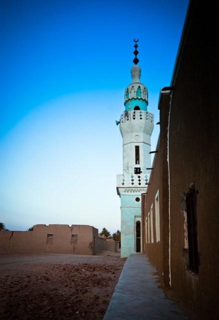 Nubian village mosque minaret