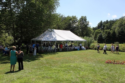 the ceremony tent