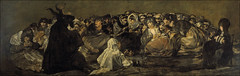 Aquelarre, or The Witches' Sabbath, from 'The Black Paintings,' 1821-23, by Francisco de Goya