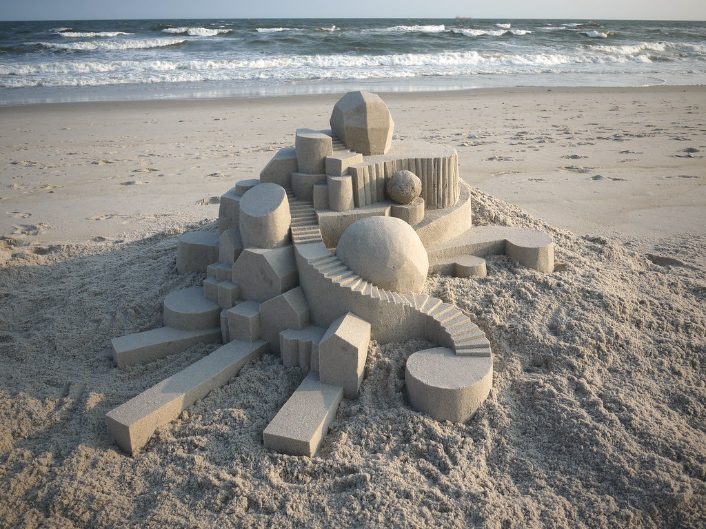 6114752486 865e14801c b Geometric Sand Sculptures by Calvin Seibert