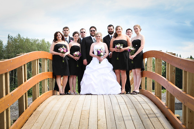 Bridal Party on the Bridge at UNBC