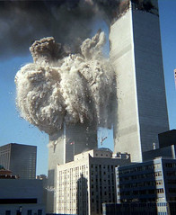 South Tower Collapses, by Jerry Torrens