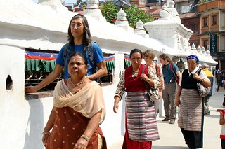 Traditional walk before expedition around  stupa, Boudhanath