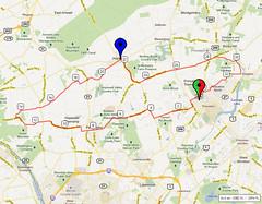 20. Bike Route Map. Princeton NJ
