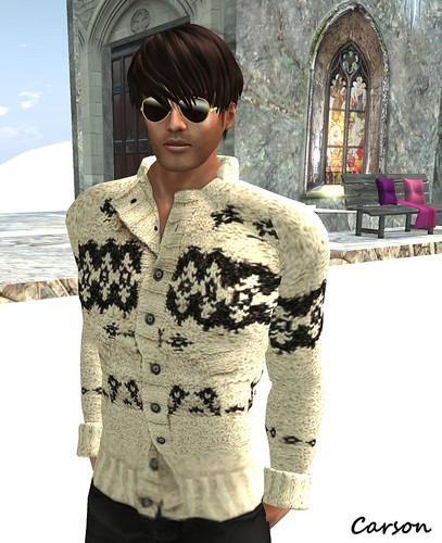 SB Menswear - Aspen Cardigan and Gold Aviator Shades