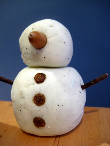 snow play dough recipe