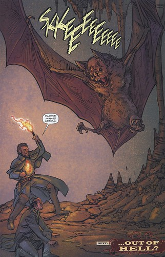 """Inside the Bat Cave!"" - comic book art from All-Star Western #5"