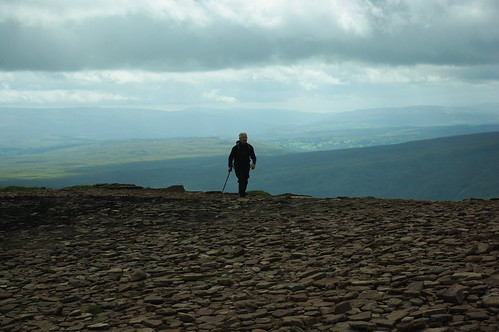 20110821-27_Our back marker - Silhouetted on Corn Du by gary.hadden