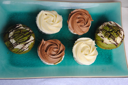 Matcha Green Tea and White Chocolate Cupcakes