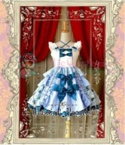 Classical Puppets Blueberry Halter Sweet Bowknot Lolita Dress