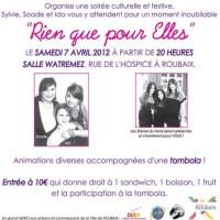 """Soirée """"Rien que pour Elles"""", le 7 avril 2012"""