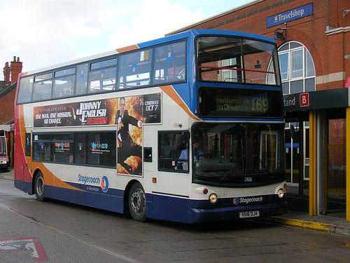 Dennis Trident/Alexander ALX400 17616, V616 DLA, Stagecoach in Manchester, Ashton-under-Lyne bus station