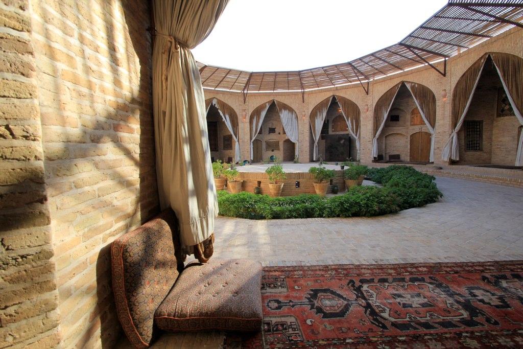 Inside the Zein-o-din Caravanserai