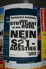 Aufrechte Badener! Treibt Stuttgart in den Ruin!