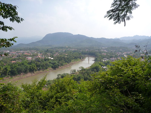 View over Luang Prabang from Phu Si Hill