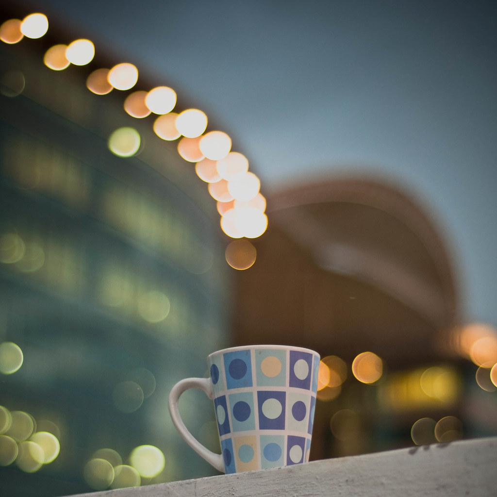 Day 285.365 - Coffee cup bokeh